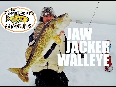 Jaw Jacker Pike and Walleye Ice Fishing in Frigid Cold