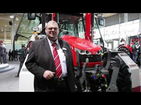 MF 6455 Steep nose tractor walk-around with Campbell Scott - Day Five, Agritechnica 2011