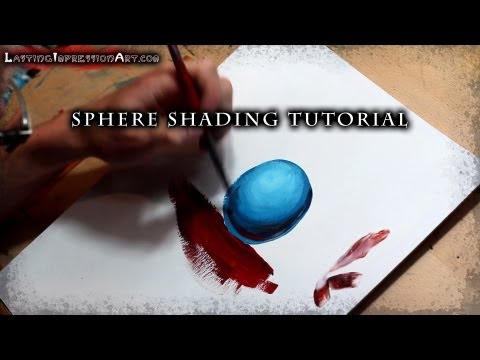 Sphere Shading Tutorial with Acrylic Paint   Justin Hillgrove   Imps and Monsters