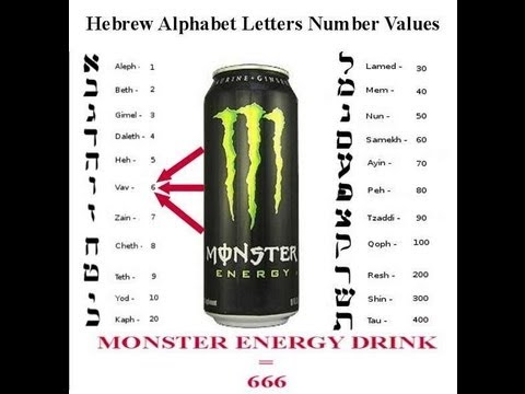 Monster Energy Drink represents Satan's Name in Hebrew 666 = ISON is Satan!