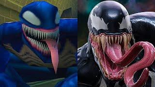 Evolution of Venom Battles in Spider-Man Games! (PS1,PS2,PS3,PS4)