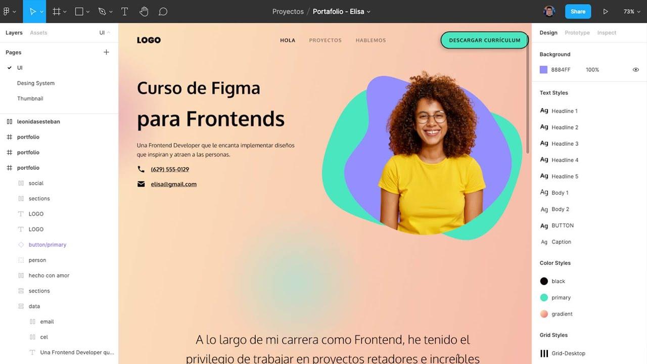 Curso gratuito de Figma para Frontends, inscríbete