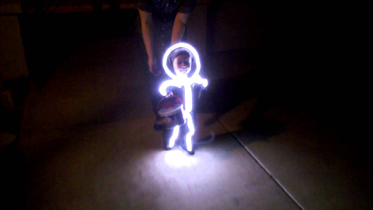 LED Stick Baby Costume Trick or Treating Halloween Stickman Light Costume Suit - YouTube : light up stick man costume  - Germanpascual.Com