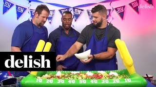 New York Giants Football Players Make Giant Meatless Nachos | Delish