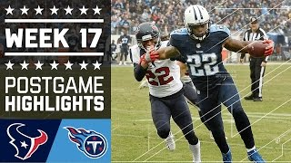Texans vs. Titans | NFL Week 17 Game Highlights