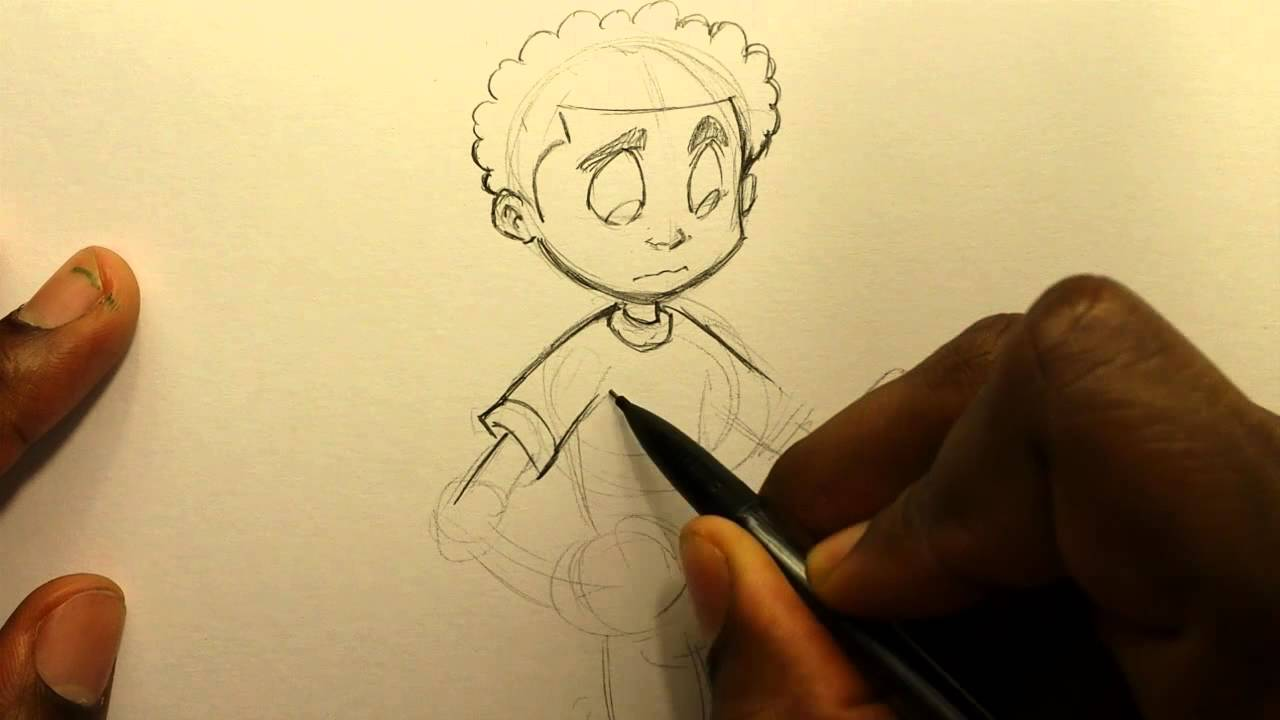 How to Draw: The Broken Glass Kid (Time Lapsed) - YouTube