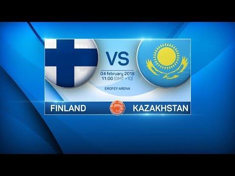 BANDY WORLD CHAMPIONSHIP 2018. FINLAND — KAZAKHSTAN