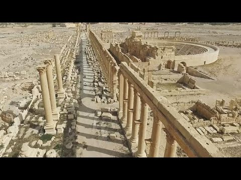 ISから解放されたパルミラ遺跡