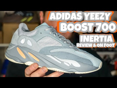 THE NEWEST ADIDAS YEEZY BOOST 700 INERTIA REVIEW & ON FOOT