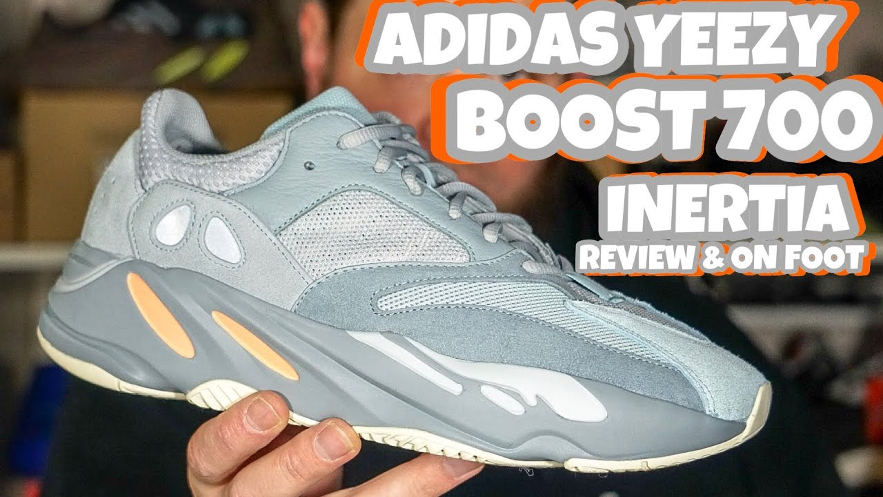 9319f622c THE NEWEST ADIDAS YEEZY BOOST 700 INERTIA REVIEW   ON FOOT - YouTube