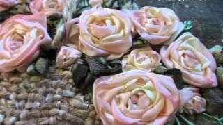 Вышивка Лентами - Розы в Корзинке