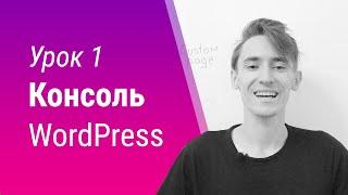 Урок 1. Консоль WordPress. Как попасть в админку?