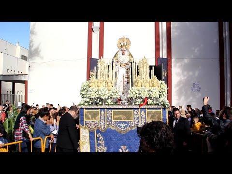 Salida de María Santísima de la Trinidad Semana Santa Algeciras 2019 Jueves Santo