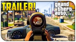 GTA 5 - Official First Person Trailer! First Person Mode Gameplay! (PS4, Xbox One & PC) [GTA V]