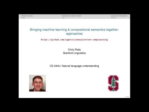 CS224u - Learning compositional semantics: approaches