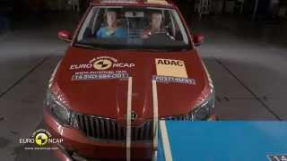 Euro NCAP Crash Test of Skoda Fabia 2014