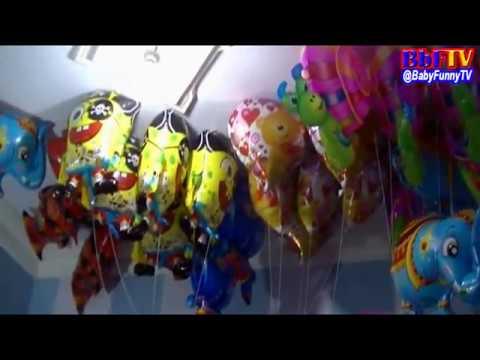 Balon Mainan Anak - Banjir Balon Karakter Gajah, Spongebob, Love, Nemo, Spiderman, Snail