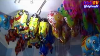 balon mainan anak   banjir balon karakter gajah  spongebob  love  nemo  spiderman  snail