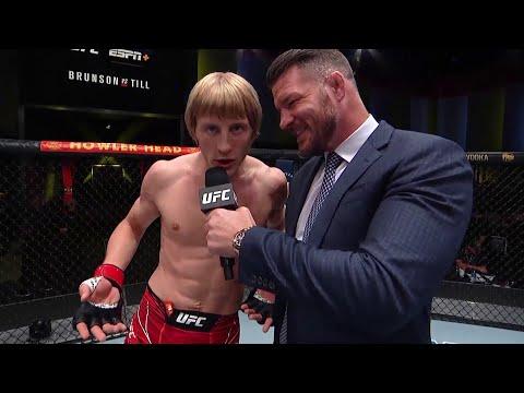Paddy Pimblett Octagon Interview | UFC Vegas 36