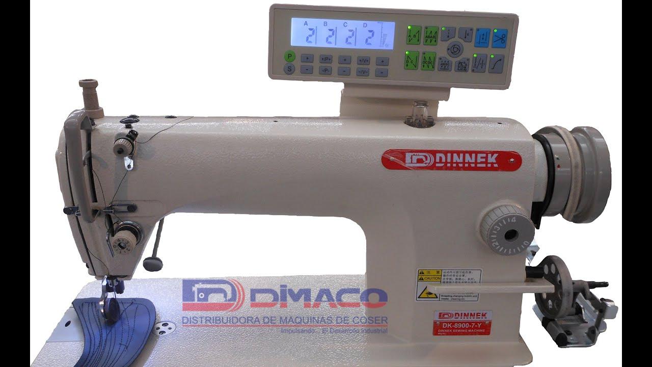 Maquina costura recta dk 8700 7 y dinnek youtube - Maquinas de coser ladys ...