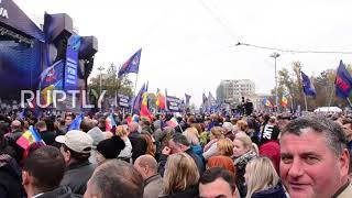 Moldova: Thousands of pro-EU party supporters take part in 'For Moldova' rally
