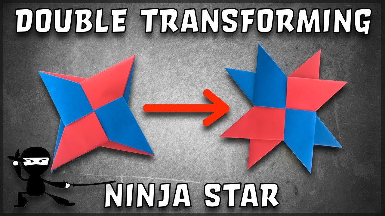 How To Make a Transforming Double Origami Ninja Star! (Really Cool!)