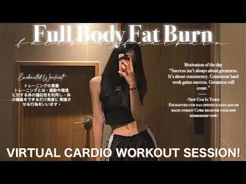 ❝Full Body Fat Burn.°// virtual cardio workout session! [𝐬𝐮𝐛𝐥𝐢𝐦𝐢𝐧𝐚𝐥]