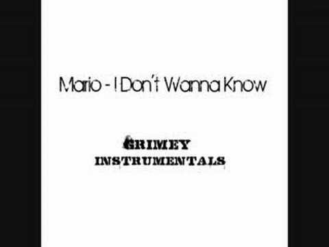 Mario - I Don't Wanna Know (Instrumental)