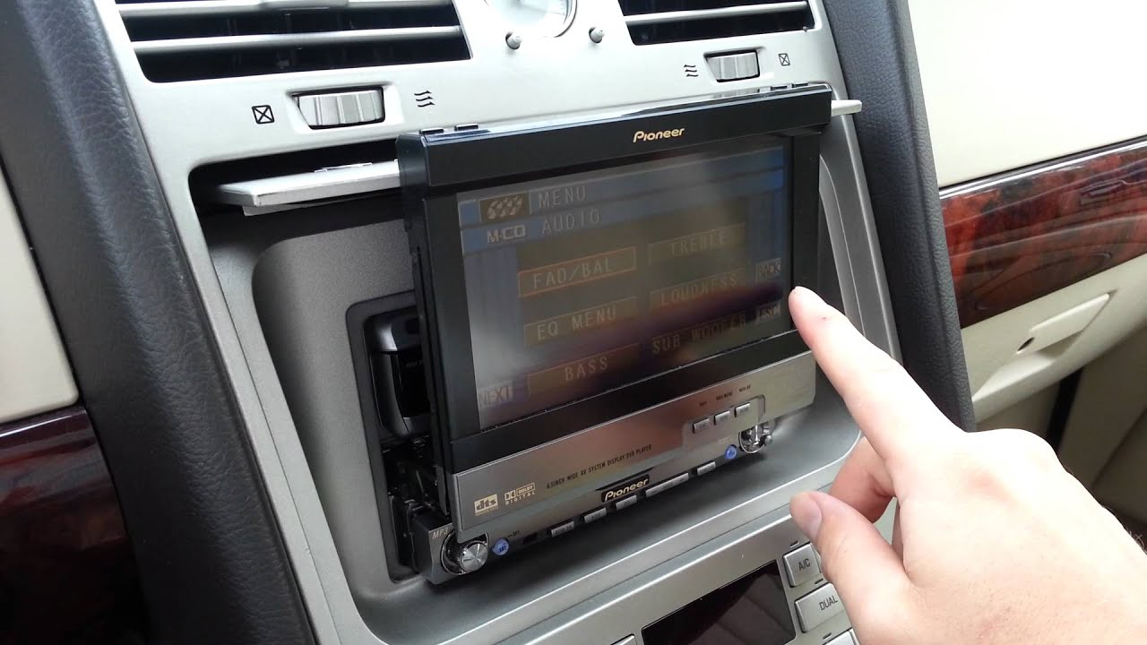 Car Dvd Player Wiring Diagram Pioneer Cd Player In Lincoln Navigator Youtube