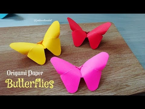 How to make Origami paper butterflies | Easy craft | DIY cra