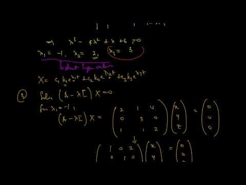 Homogeneous System: Initial-Value Problem