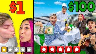 $1 Date Vs $100 Date!!