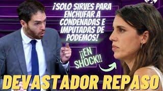 Sergio Sayas DESPEDAZA a IRENE MONTERO por convertir IGUALDAD en el ENCHUFE de CONDENADAS PODEMITAS
