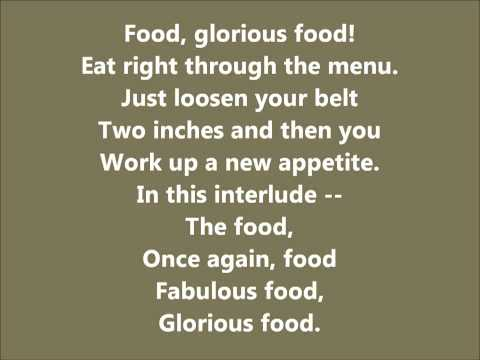 Food Glorious Food Karaoke / Instrumental Oliver