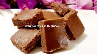 How To Make Chocolate Burfi With Milk Powder  Easy Chocolate Barfi Recipe  Diwali Sweet Recipe