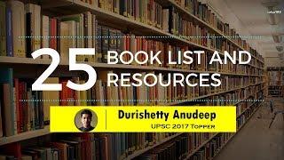 Anudeep Durishetty (AIR 1, IAS Topper 2017-18) | Booklist for UPSC CSE/ IAS Preparation