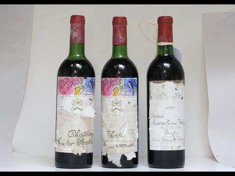 Fine wine tasting Chateau Mouton Rothschild 1970