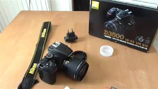 Nikon D3500 VR 18-55 Kit Unboxing/Short Review/Parts Included
