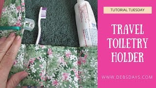 How to Sew a Toiletry Travel Kit with Fabric and a Washcloth - DIY Project