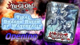 Yugioh Tidal, Dragon Ruler of Waterfalls - 4x Tin Opening
