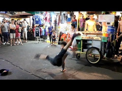 EPIC Break Dancing Kids on the Streets of Thailand  (Khaosan Road)