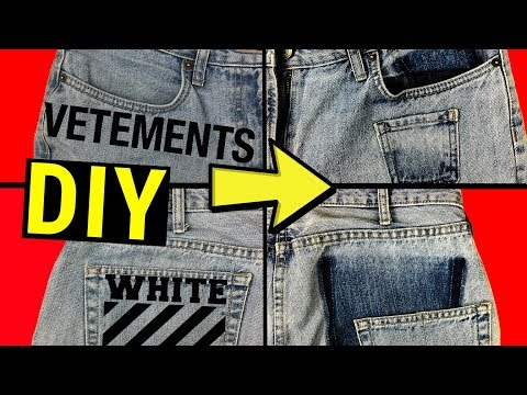 DIY Off-White VETEMENTS CUSTOM Deconstructed Jeans | ZRÓB TO SAM