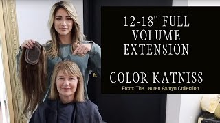 Luxury hair extension topper hairpiece makeover using Lauren Ashtyn Collection