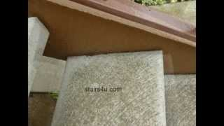 How To Prevent Exterior Stair Stringer Wood Damage - Using Concrete Steps