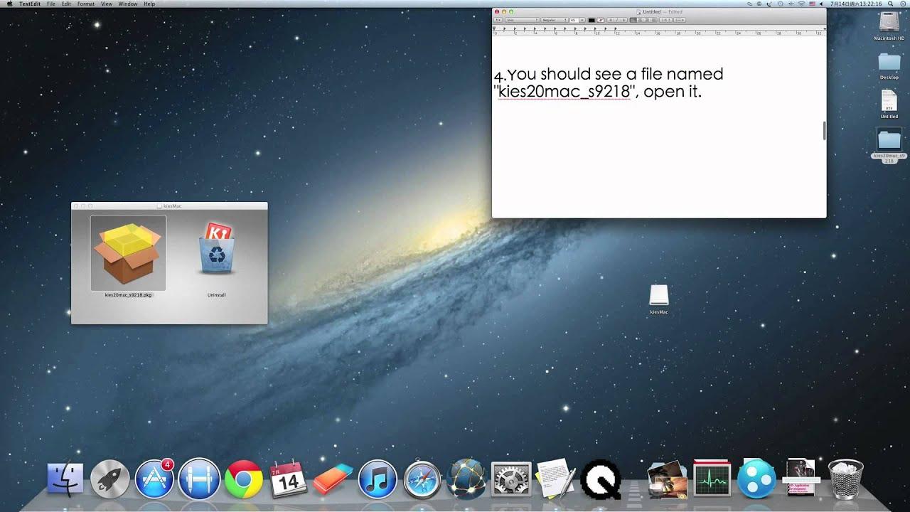 how to install kies on mac mountain lion