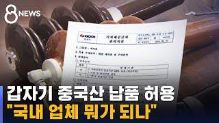 """갑자기 중국산 납품 허용…""""국내 업체 뭐가 되나"""" / SBS"""