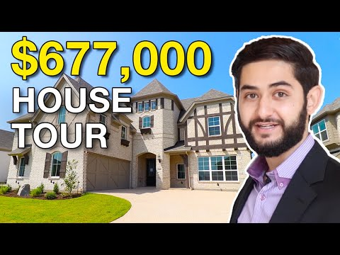 Touring a $677,000 Luxury House In Texas! | BIG GRAND ENTRY DOUBLE STAIRCASE