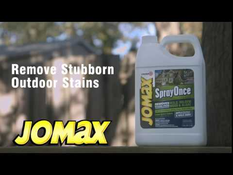 How To Video Remove Exterior Mold Mildew With Jomax Spray Once