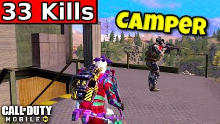 TROLLING A CAMPING SNIPER!! | CĄLL OF DUTY MOBILE | SOLO VS SQUADS