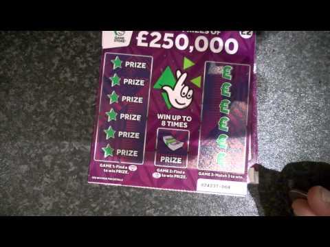 UK Scratchcards - NEW CARDS £2 £250k Purple